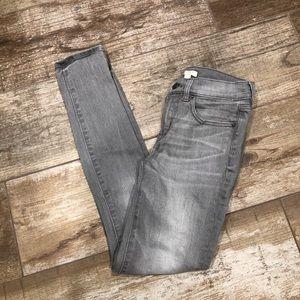 J. Crew | gray skinny stretch jeans